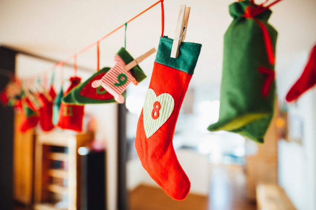 Christmas stockings, nut free gifts for the holidays